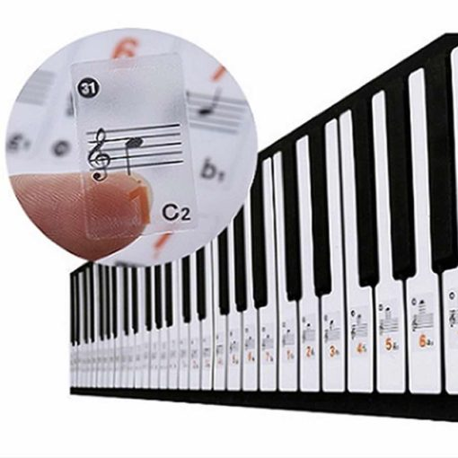 transparent labels for keyboard keys