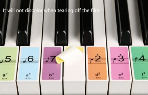Piano Keyboard Name Stickers | Piano Key Decals 2