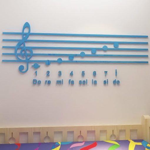 piano notes 3d wall decoration
