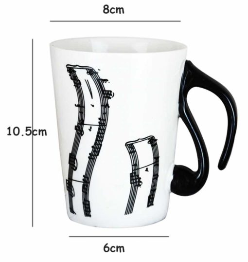 piano themed coffee mug