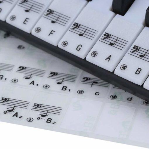 transparent labels for piano keys